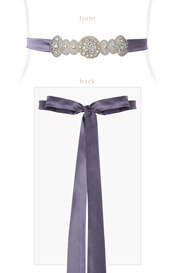 Aurelia Vintage Maternity Sash in Grape