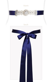Aurelia Vintage Ribbon Sash Eclipse Blue