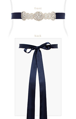 Aurelia Vintage Maternity Sash (Midnight Blue)