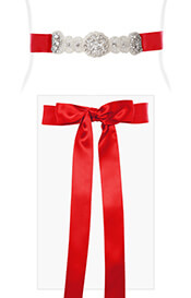 Aurelia Vintage Maternity Sash Sunset Red