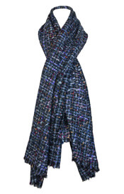 Bouclé Maternity Accessory Scarf Blue