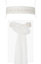 Flower Beaded Sash