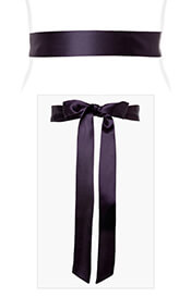 Smooth Satin Sash Slim Blackberry