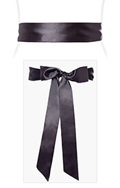 Smooth Satin Sash Slim Graphite