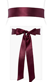 Smooth Satin Sash Slim Mulberry