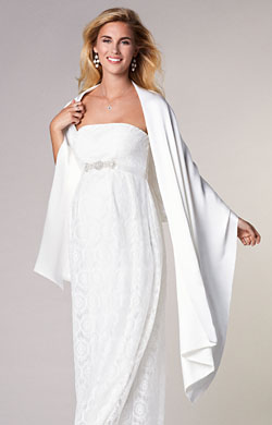 Silk Maternity Bridal Wrap Ivory
