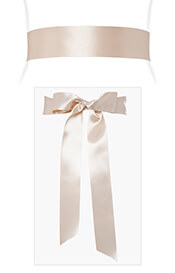 Smooth Ribbon Sash Gold Dust
