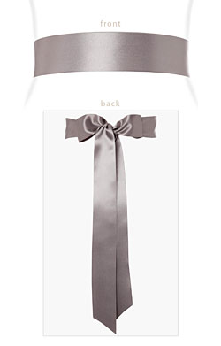 Smooth Ribbon Sash Silver