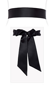 Smooth Satin Sash Black