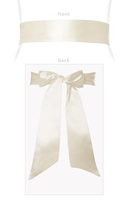 Smooth Satin Sash Cream