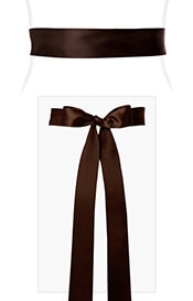 Smooth Satin Sash Long Dark Chocolate