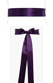 Smooth Satin Sash Dark Purple