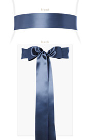 Smooth Satin Sash Long Infinity Blue