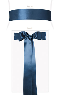 Smooth Satin Sash Lagoon Blue