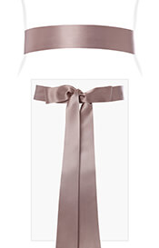 Smooth Satin Sash Long (Vintage Rose)