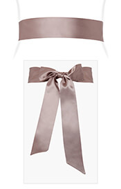 Smooth Satin Sash Vintage Rose