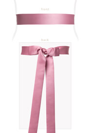 Smooth Satin Sash Wild Rose