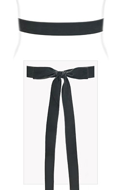 Velvet Ribbon Sash Grey Smoke
