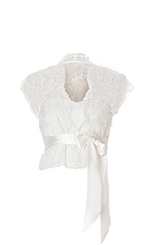 Beaded Lace Maternity Bridal Jacket (Vintage Ivory)