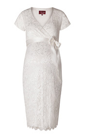 Bridget Maternity Lace Dress Ivory