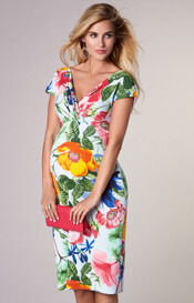 Bardot Maternity Shift Dress Hawaiian Breeze