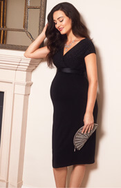 Bardot Maternity Shift Dress Night Sky