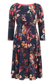 Cathy Maternity Dress Short Oriental Bloom