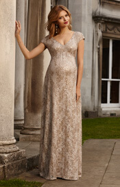 Carmen Maternity Gown Gold Rush