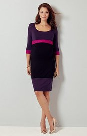 Robe de Grossesse Colour Block (Violette)