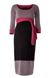 Colour Block Maternity Dress (Truffle)