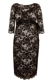 Charlotte Maternity Lace Dress Black
