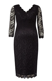 Chloe Lace Maternity Dress Black