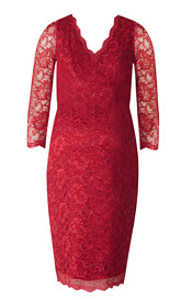 Chloe Lace Maternity Dress Scarlet