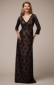 Chloe Lace Maternity Gown Blush Noir