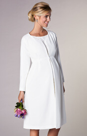 Christie Maternity Wedding Dress Coat Ivory
