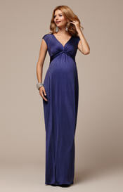 Clara Maternity Gown Long Bluebell