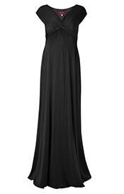 Clara Maternity Gown Long (Black)