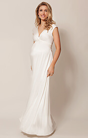 Clara Maternity Gown Long Ivory