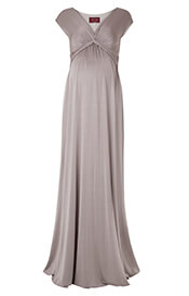 Clara Maternity Gown Long Mocha