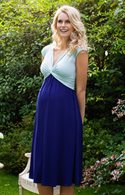 Clara Maternity Dress Short Aqua Marine