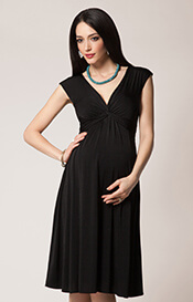 Clara Maternity Dress Short Black