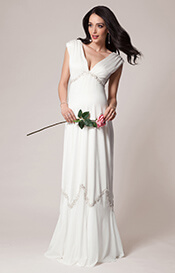 Constellation Maternity Gown Ivory