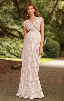 Eden Langes Umstandsabendkleid in Blush