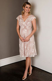 Eden Maternity Gown Short Blush