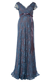 Eden Maternity Gown Long (Caspian Blue)