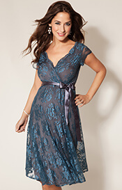 Eden Maternity Gown Short (Caspian Blue)