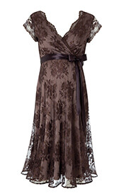 Eden Maternity Gown Short Chocolate