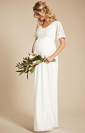 Edith Kimono Maternity Wedding Gown Ivory