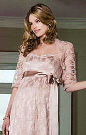 Ellen Lace Maternity Bolero (Antique Rose)