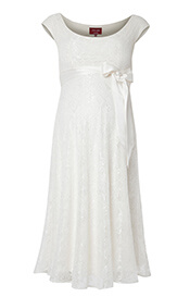 Eliza Maternity Wedding Dress Short (Ivory)
